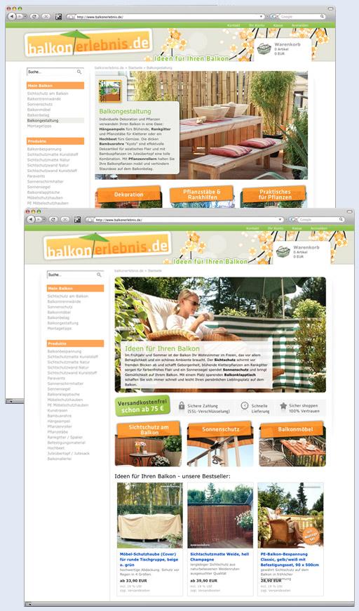 Onlineshop www.balkonerlebnis.de